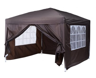 Outsunny Pop Up Gazebo Marquee, size (3m x3m)-Coffee