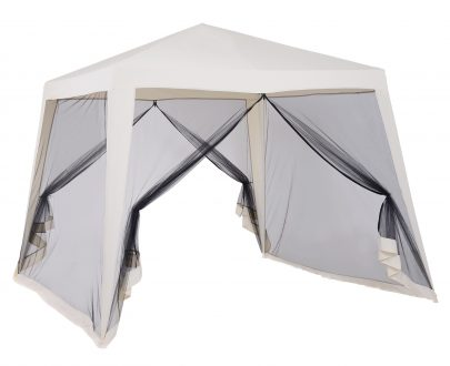Outsunny 3x3m Outdoor Gazebo Tent W/Mesh Screen Walls-Cream white
