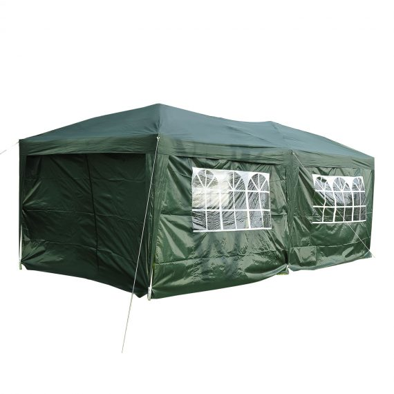 Outsunny Pop Up Gazebo Marquee, size(6m x 3m)-Green