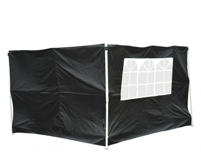 Outsunny 3m Gazebo Exchangeable Side Panels Wall-Black