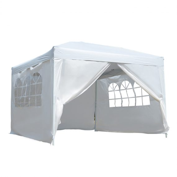 Outsunny Pop-Up Gazebo Marquee, 3x3 m-White