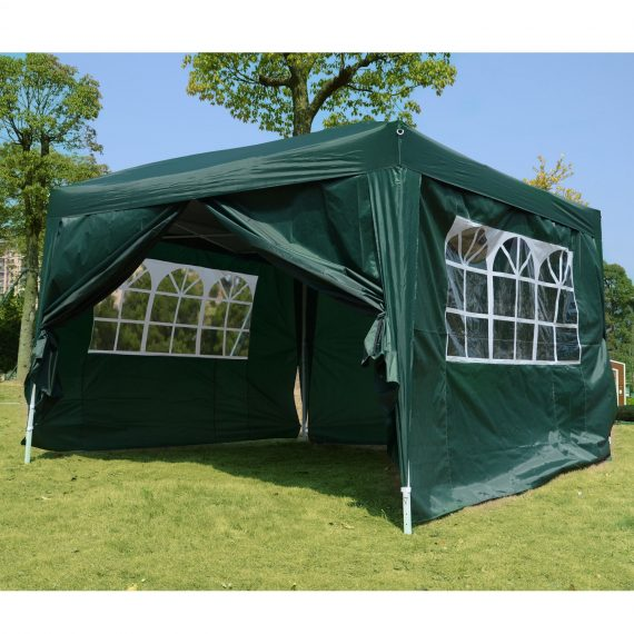 Outsunny Pop Up Gazebo Marquee, size(3m x 3m)-Green