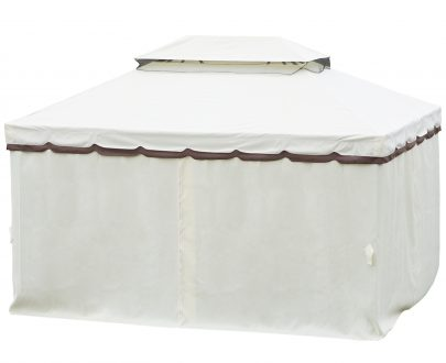 Outsunny 3m x 4m Vented Roof Aluminium Frame Gazebo Cream White 84C-144