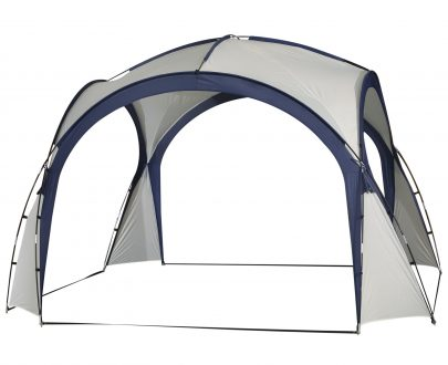 Outsunny Gazebo Party Tent, 3.5x3.5m-Cream/Blue 84C-110