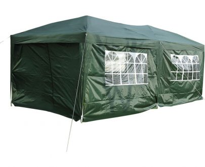 Outsunny 3 x 6m Garden Heavy Duty Water Resistant Pop Up Gazebo Marquee Party Tent Wedding Canopy Awning-Green 100110-068GR 5060265996451