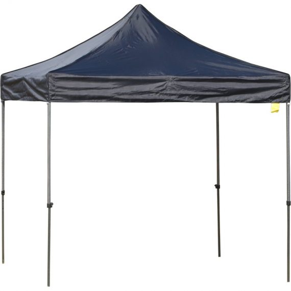 Outsunny 2.9m x 2.9m Steel Frame Raised Roof Pop-Up Gazebo Black 84C-173BK 5056029846919