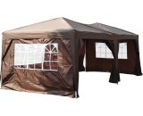Outsunny Pop Up Gazebo Marquee, size(6m x 3m)-Coffee 100110-068CE 5060348504115