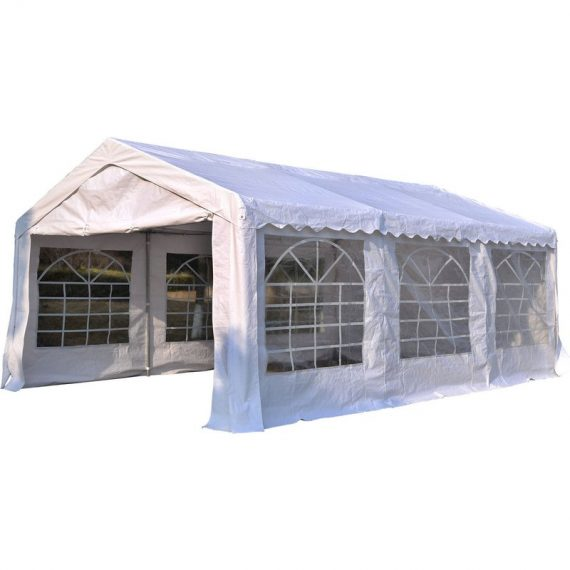 Outsunny Gazebo, Steel Frame, Water Resistant, size 6x4 m-Whtie 01-0805 5060348504603