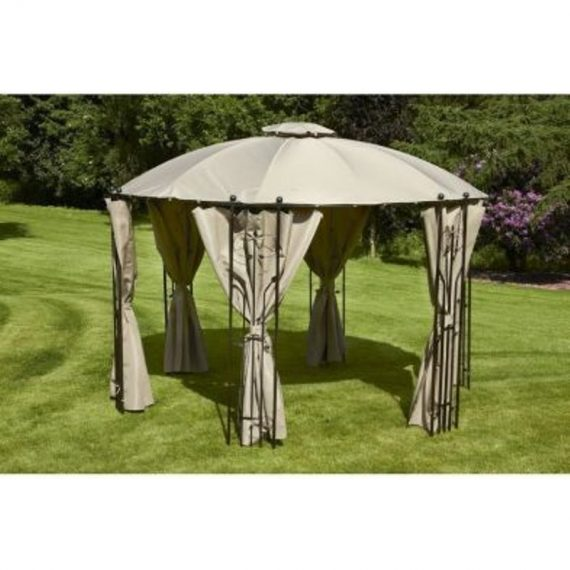 Glendale Hexagonal Dome 1.75 x 1.75M Gazebo Grey