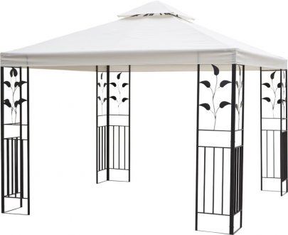 Outsunny 3m x 3m Vented Roof Metal Frame Garden Gazebo Cream 84C-147 5056029893159