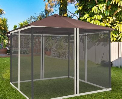Outsunny Replacement Mesh Mosquito Netting Screen Walls for 10 x 10ft Patio Gazebo, 4-panel Sidewalls with Zippers (Wall Only, Canopy Not Included) 84C-142 5056399142178