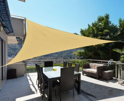 Outsunny 3m Sun Shade Sail-Light Sand 01-0616 5056029892183