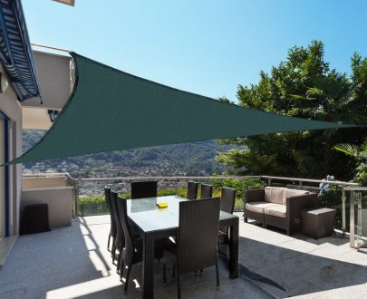 Outsunny Triangle 3m Sun Shade-Green 100110-033G 5056029892572