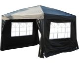 Outsunny 3x3m Pop up Gazebo Marquee-Black Water Resistant Wedding Camping Party Tent+ Free Carry Bag-Black 100110-067BK 5060348504092