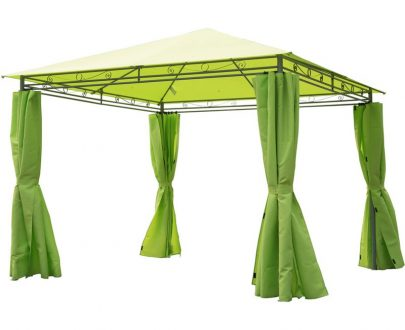 Outsunny 3m x3m Garden Metal Gazebo-Lemon Green 01-0877 5060348506317