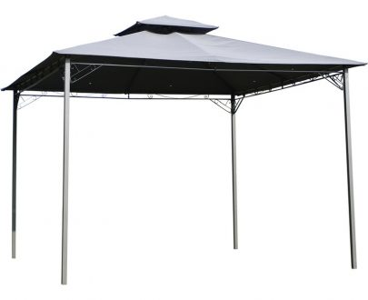 Outsunny 2-Tier Roof Gazebo, 300Lx300Wx264H cm, Steel Frame-Black/Grey 84C-115 5056029833216