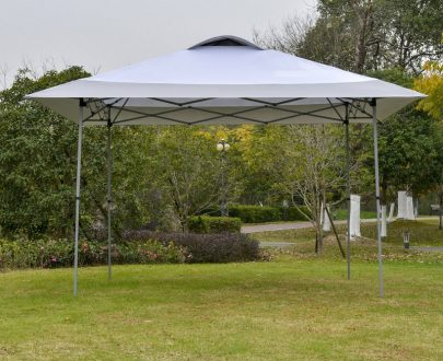 Outsunny 4 x 4m Pop-up Canopy Gazebo Tent with Roller Bag & Adjustable Legs Outdoor Party, Steel Frame, White 84C-247WT 5056399144639
