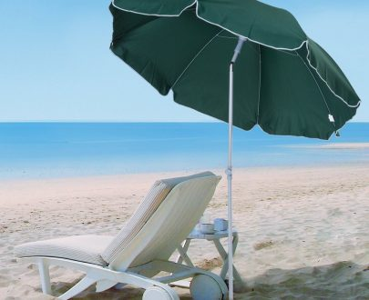 Outsunny Beach Umbrella Parasol,φ2.2m, Steel-Dark Green 84D-039GN 5056029887509