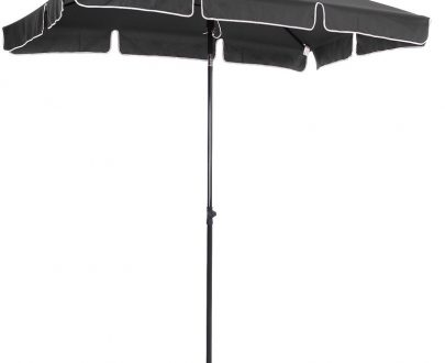 Outsunny Aluminium Sun Umbrella Parasol Patio Garden Rectangular Tilt 2M x 1.25M 84D-016GY 5056029826546