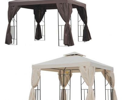 Outsunny 3x3 m Gazebo W/Side Panel X-84C-043 5056029894958
