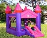 Outsunny Kids Bounce Castle House Inflatable Trampoline Slide 2 in 1 with Inflator for Kids Age 3-12 Multi-color 3.5 x 2.5 x 2.7m 342-015V70 5056399142260