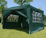 Outsunny Pop Up Gazebo Marquee, size(3m x 3m)-Green 100110-067GR 5060265996390