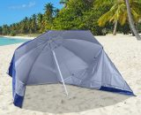 Outsunny 2m Beach Sport Umbrella Parasol-Coated Blue Polyester/Steel 84D-022 5056029890257
