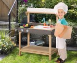 Outsunny Kitchen Playset, Kids Pretend Role Play Toy, Educational Game with Sink, Running Water, Educational Role Play Set for 3+ Years Old 350-085 5056399147333