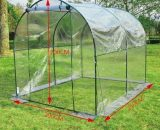 Outsunny Walk in Transparent Greenhouse, Steel Frame, S size 01-0467 5056029853573