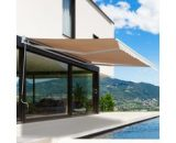 Outsunny 3.5Lx2.5M Retractable Awning-Cream White 840-146 5056029892619