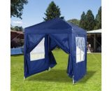 Outsunny 2x2m Garden Pop Up Gazebo Marquee Party Tent Wedding Awning Canopy W/ free Carrying Case + Removable 2 Walls 2 Windows-Blue 100110-066B 5060265996383