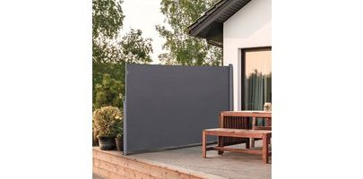 Outsunny Retractable Sun Side Awning Screen Fence Patio Garden Wall Balcony Screening Panel Outdoor Blind Privacy Divider (3x2M, Grey) 840-196GY 5056399142246