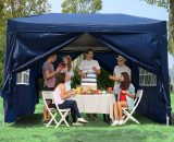 Outsunny Pop Up Gazebo Marquee, size (3m x 3m)-Blue 100110-067B 5060265996413