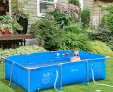 Outsunny Steel Frame Pool with Filter Pump and Filter Cartridge Rust Resistant Above Ground Swimming Pool with Reinforced Sidewalls, 252 x 152 x 65cm, Blue 848-016V70 5056399152115