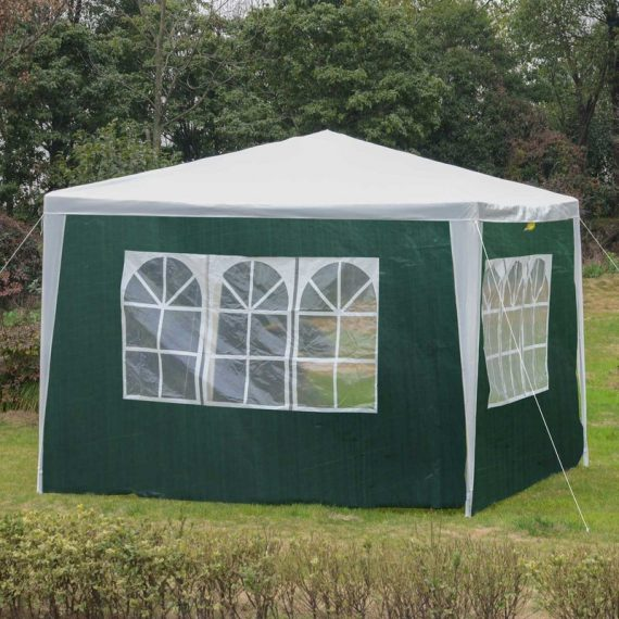 Outsunny 3x2 m Canopy Gazebo Marquee Replacement Side Panel-Green 01-0202 5056029861301