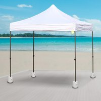 Outsunny Tent Weight Base, 4pcs Plastic Anchor Weights-White 840-046 5056029868577