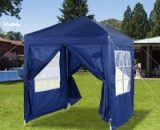 Outsunny 2x2m Garden Pop Up Gazebo Marquee Party Tent Wedding Awning Canopy W/ free Carrying Case + Removable 2 Walls 2 Windows-Blue 100110-066B 5056029866726