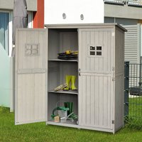 Outsunny Wooden Outdoor Garden Shed 127.5L x 50W x 164H cm Grey 845-210GY 5056029873113