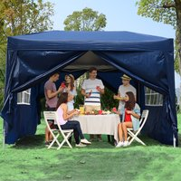 Outsunny Pop Up Gazebo Marquee, size (3m x 3m)-Blue 100110-067B 5056029868942