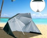 Outsunny All-Weather Beach Umbrella Shelteneer-Green 84D-022GN 5056029858950
